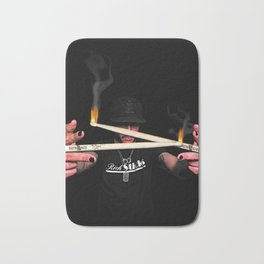 Sticks on Fire Bath Mat