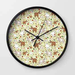 Goat Pattern Wall Clock
