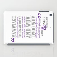 princess bride iPad Cases featuring custom listing for Wedding Date and names Princess Bride by studiomarshallarts