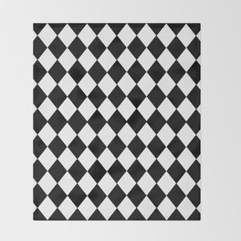 HARLEQUIN BLACK AND WHITE PATTERN #2 Throw Blanket