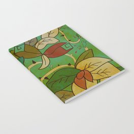 Floral, blood and thorn pattern Notebook