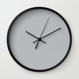 Quiet Gray - Fashion Color Trend Fall/Winter 2018 Wall Clock