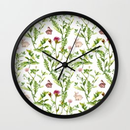 Easter Bunny Garden Wall Clock