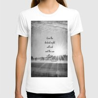 les miserables T-shirts featuring Les Miserables Quote Victor Hugo by KimberosePhotography