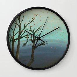 Melting Autumn Wall Clock