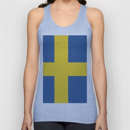 Sweden flag emblem Unisex Tank Top