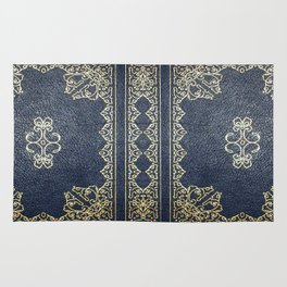 Gilded Gold and Blue Book Rug