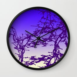 Ultraviolet Moon Wall Clock
