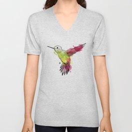 Flying colibri Unisex V-Neck