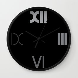 Number 4 of a series of 10 | TypoClock | time fades | Bauhaus roman numerals Wall Clock