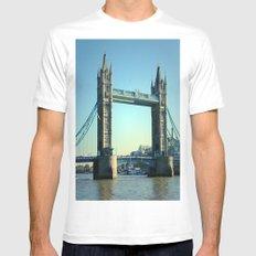 Tower Bridge Mens Fitted Tee MEDIUM White