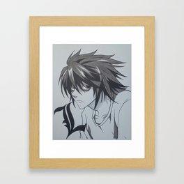L Framed Art Print