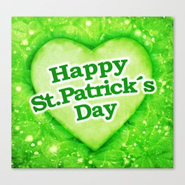 Unique Happy St. Patrick´s Day Design Canvas Print