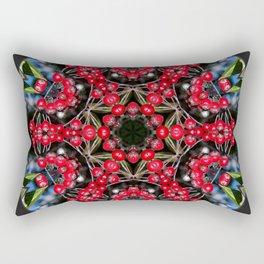 Red berries mandala Rectangular Pillow