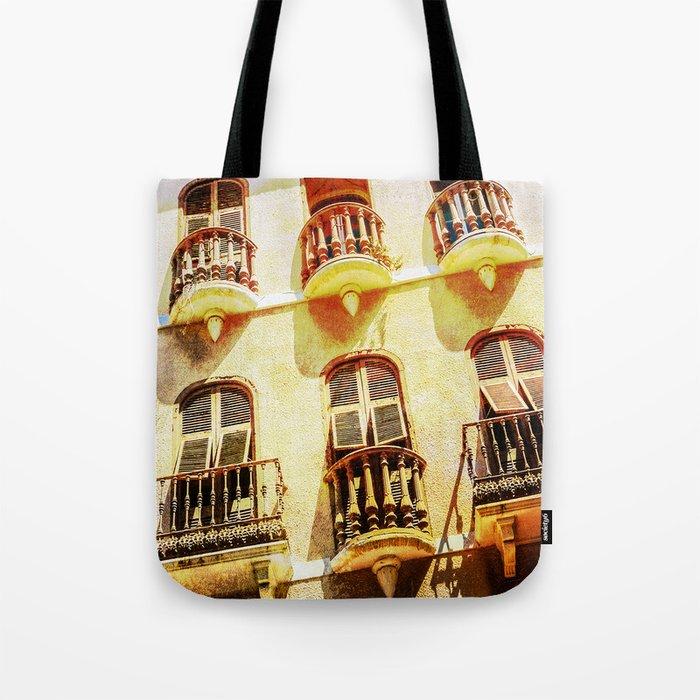 Gibraltar balconies Tote Bag
