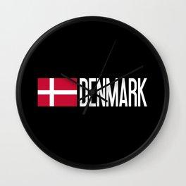 Denmark: Danish Flag & Denmark Wall Clock