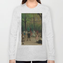 Luxembourg Gardens Oil Painting by William James Glackens Long Sleeve T-shirt