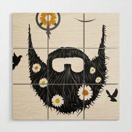 Make Beards not War (typo edition) Wood Wall Art