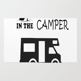 What in the camper stays in the camper Rug