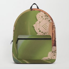 Macarons on Green Backpack