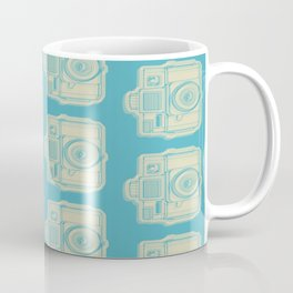 I Still Shoot Film Holga Logo - Turquoise/Tan Coffee Mug