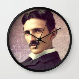 Nikola Tesla, Inventor Wall Clock