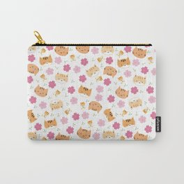 Moew play with floral and plants Carry-All Pouch
