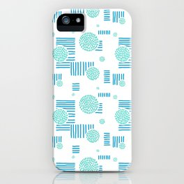 Imperfection in Blue and Turquoise iPhone Case