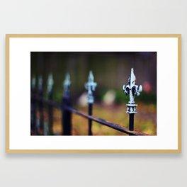 St. Louis Fleur de Lis Fence Framed Art Print