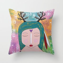 Radici nel cielo Throw Pillow