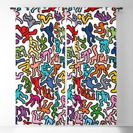Homage to Keith Haring Color Blackout Curtain