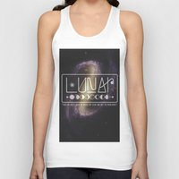 lunar Tank Tops featuring Lunar by Nate Compton