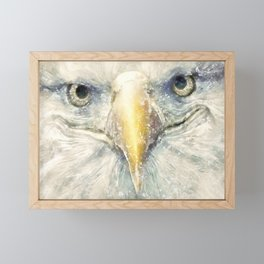 The Portrait of an Eagle Bald Framed Mini Art Print