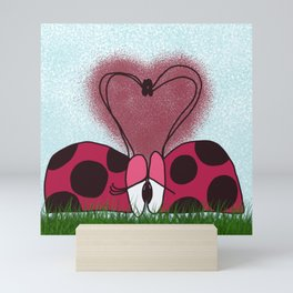 Ladybugs First Encounter Mini Art Print
