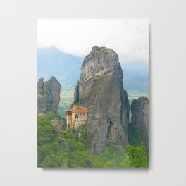 View of one of the monasteries of Meteora. Greece Metal Print