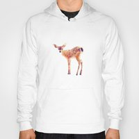 pop Hoodies featuring Fawn by Amy Hamilton