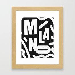 Milano Routes Framed Art Print