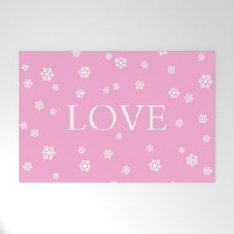 Winter Love - pink - more colors Welcome Mat