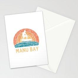 Manu Bay Vintage Surfing TShirt Retro Surfing Shirt Surfer Gift Idea  Stationery Cards