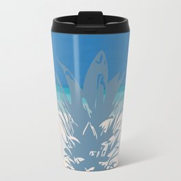 Pineapple Tropical Beach Design Travel Mug