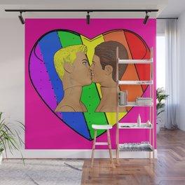 Love & Pride! Gay Kiss, Gay Pop Art! Wall Mural