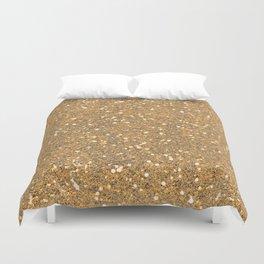 Gold Glitter Duvet Cover