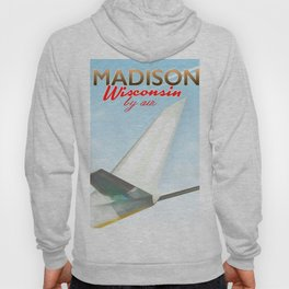 Madison Wisconsin Vintage flight poster Hoody