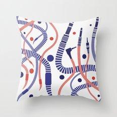 Jackworms Throw Pillow