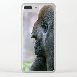 Silverback Gorilla Clear iPhone Case