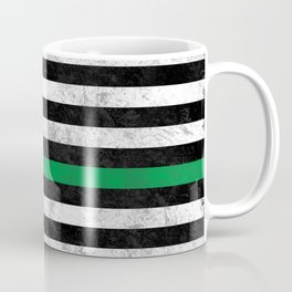 Thin Green Line Coffee Mug