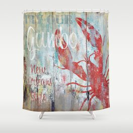 New Orleans Gumbo Sign Shower Curtain