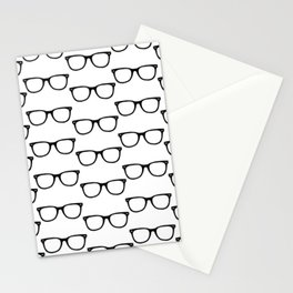 Black Funky Glasses Stationery Cards