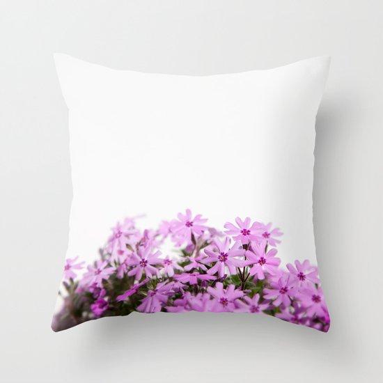 phlox {pink} Throw Pillow