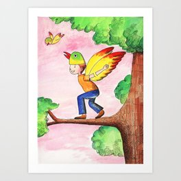 Flying Like A Bird Art Print
